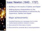 isaac newton 1643 1727