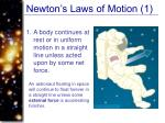 newton s laws of motion 1