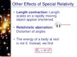 other effects of special relativity