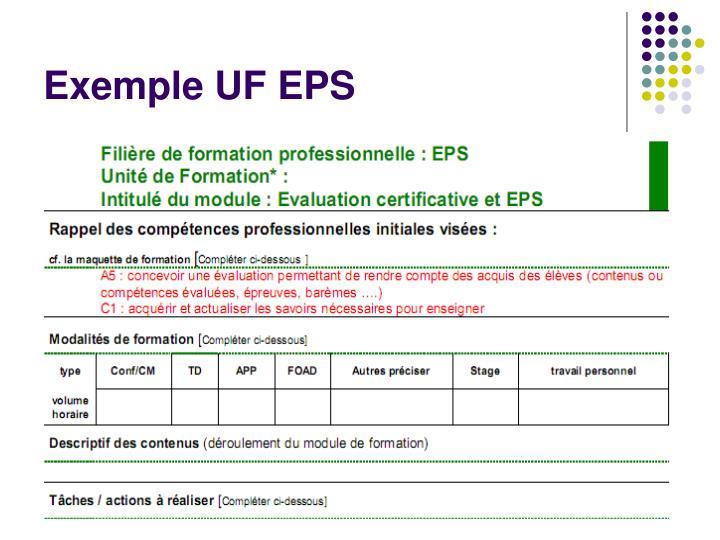 Exemple UF EPS