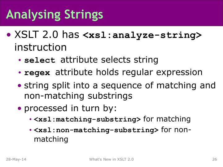 Analysing Strings