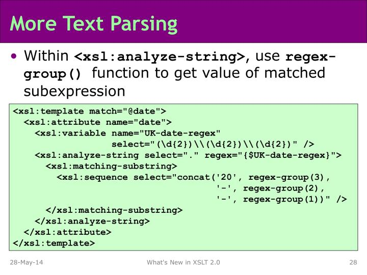 More Text Parsing