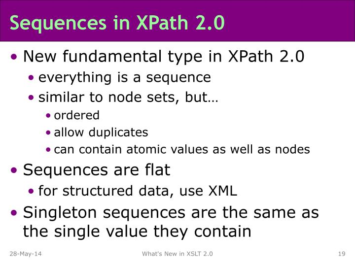 Sequences in XPath 2.0