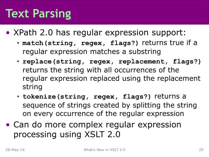 Text Parsing