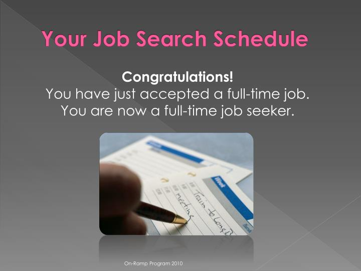 Your Job Search Schedule