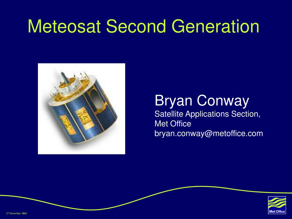 meteosat second generation l.
