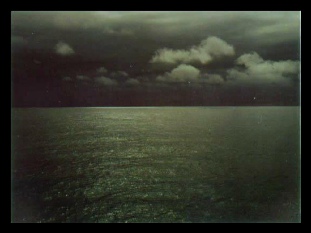 10. Calm sea with clouds