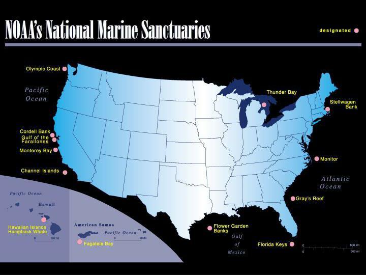 2 map of national marine sanctuaries