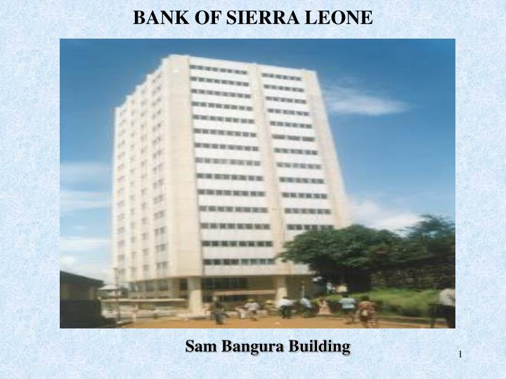 Ppt Bank Of Sierra Leone Point