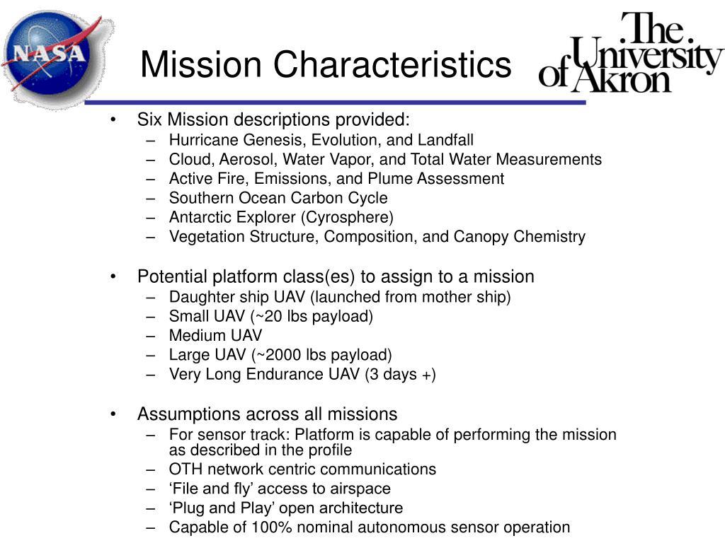 Mission Characteristics