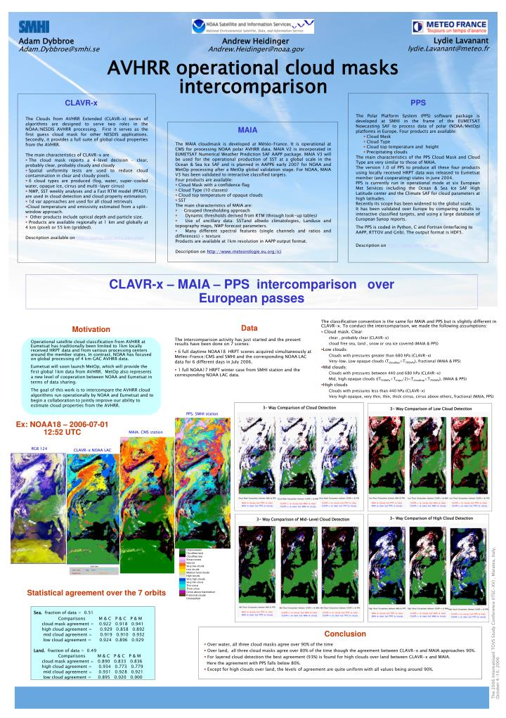 The classification convention is the same for MAIA and PPS but is slightly different in CLAVR-x. To ...