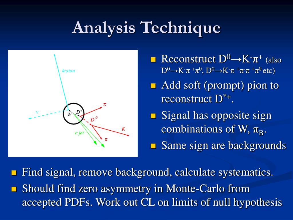 Analysis Technique