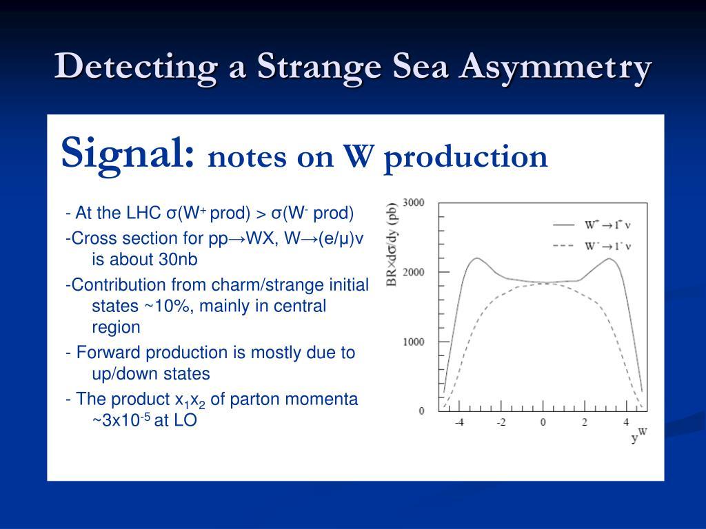 Detecting a Strange Sea Asymmetry