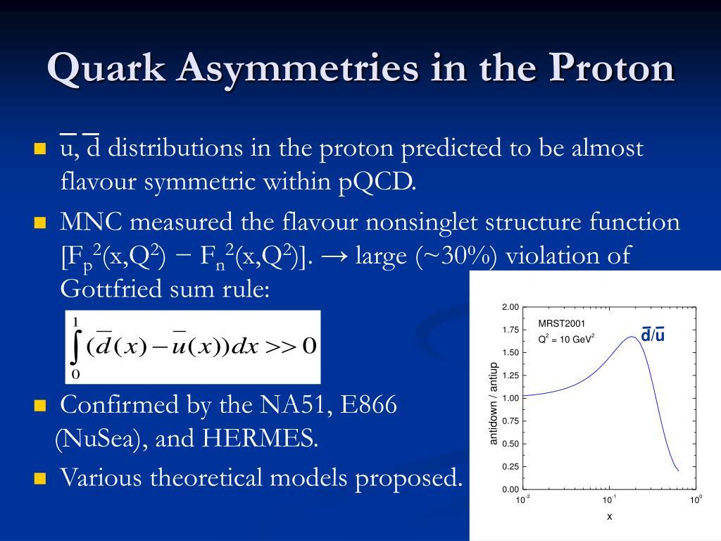 Quark Asymmetries in the Proton