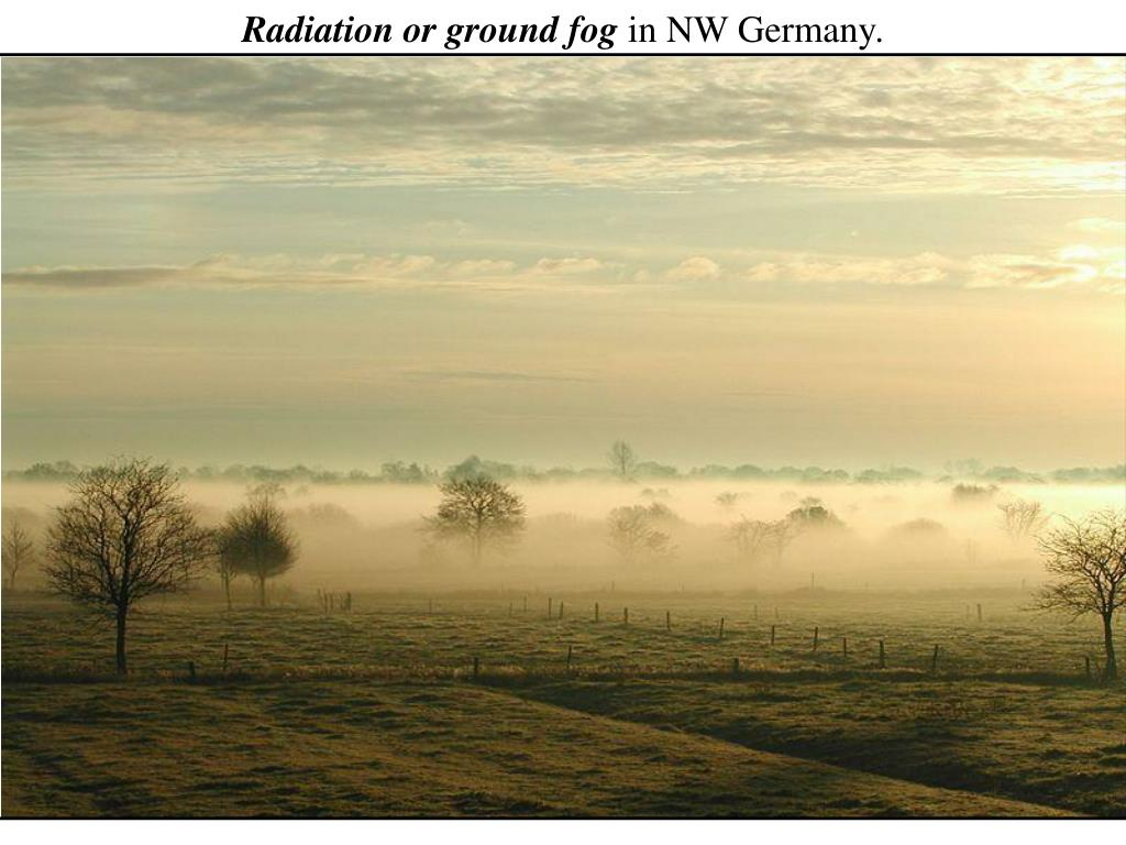 Radiation or ground fog