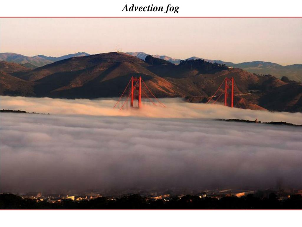 Advection fog