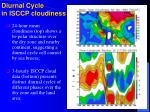 diurnal cycle in isccp cloudiness