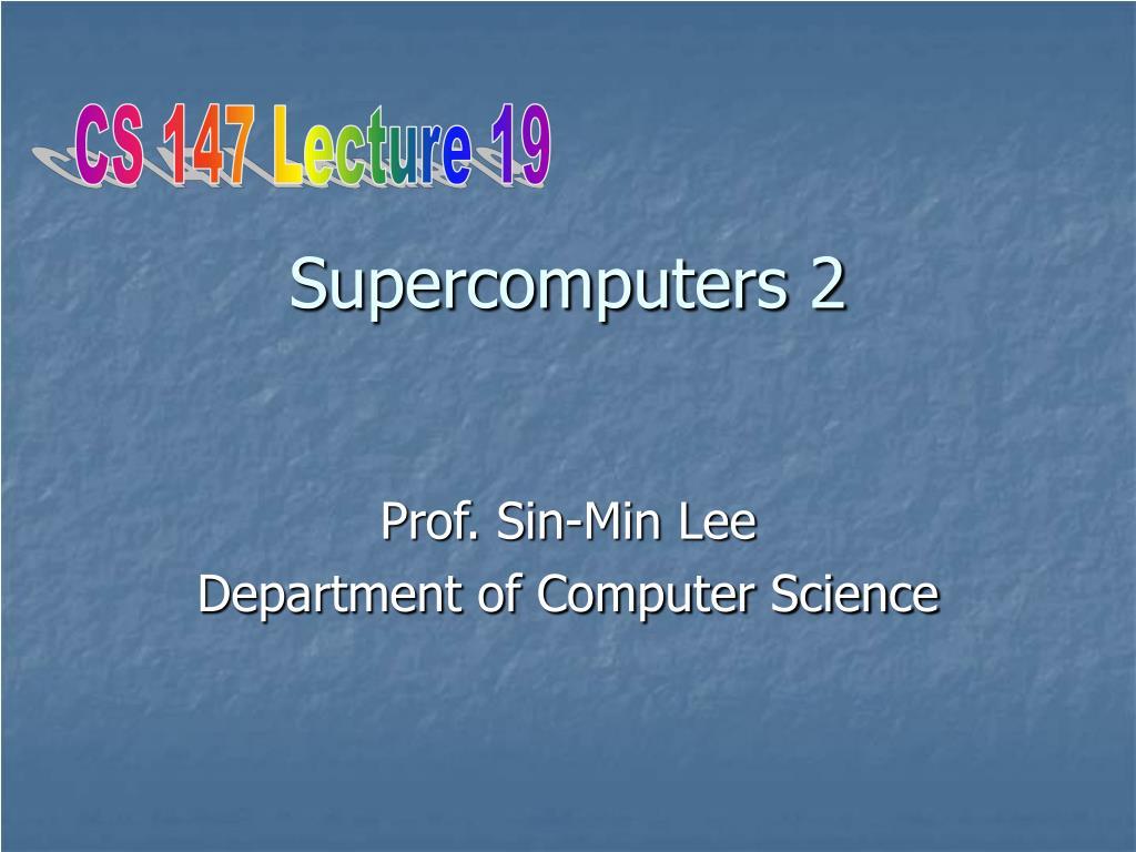 supercomputers 2 l.