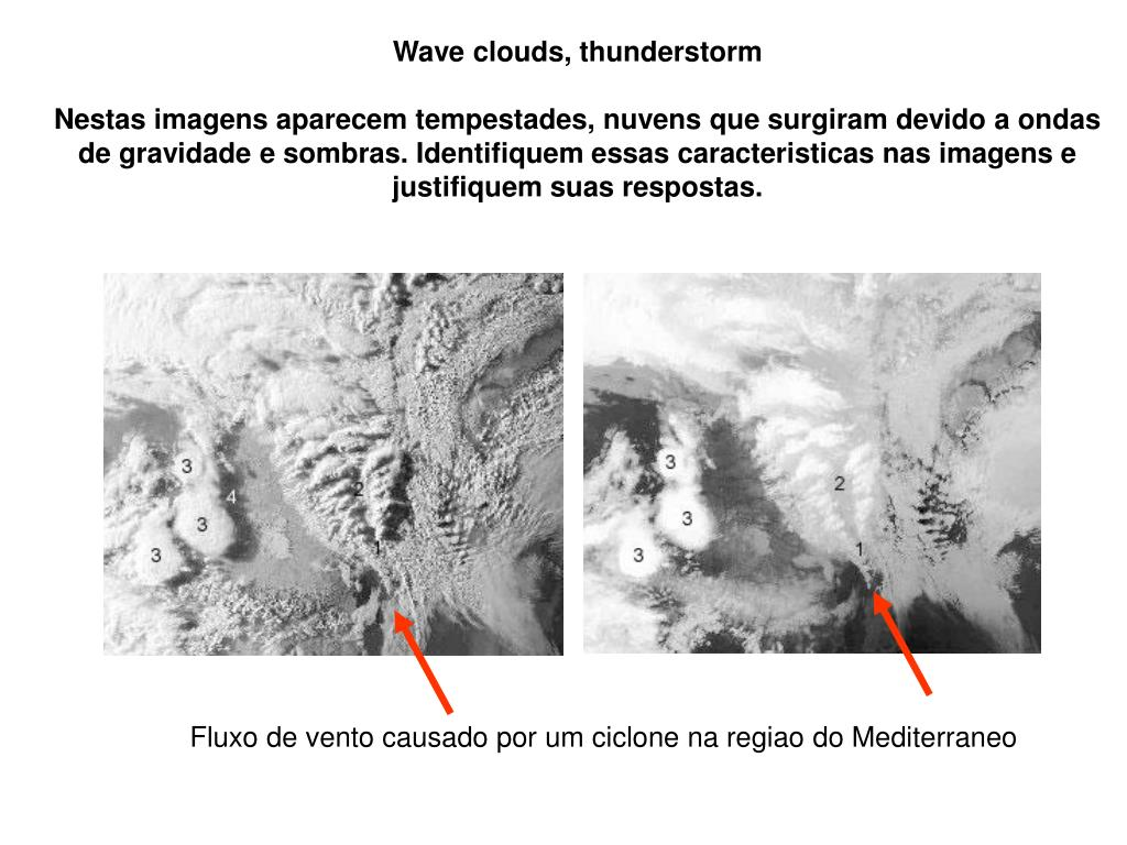 Wave clouds, thunderstorm