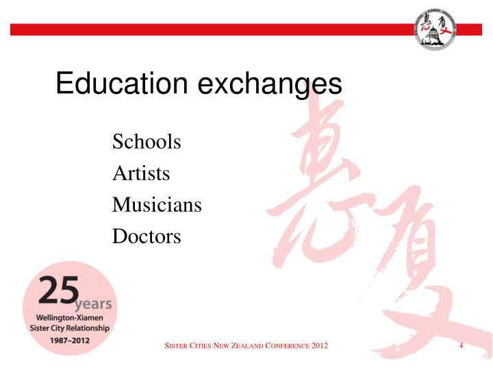 Education exchanges