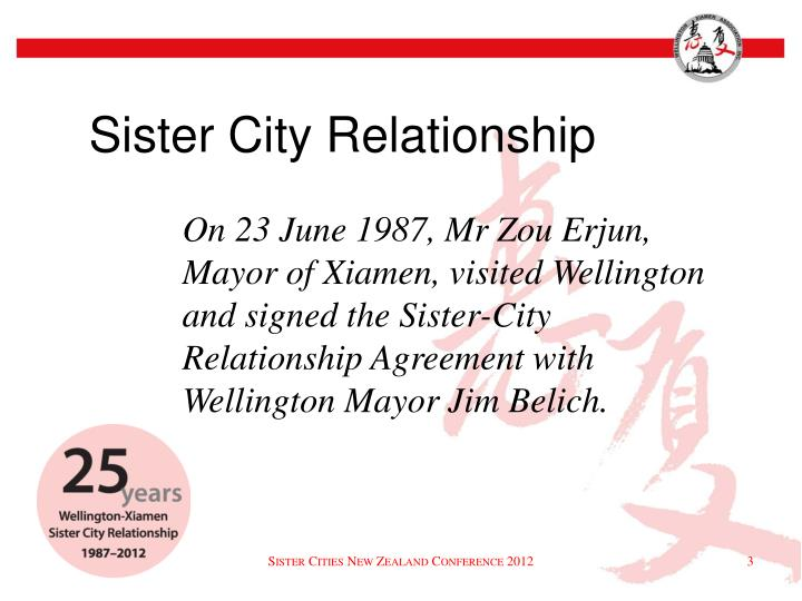 Sister city relationship