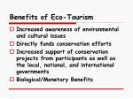 benefits of eco tourism