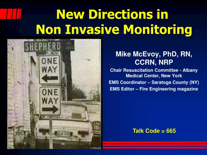 PPT - New Directions in Non Invasive Monitoring PowerPoint