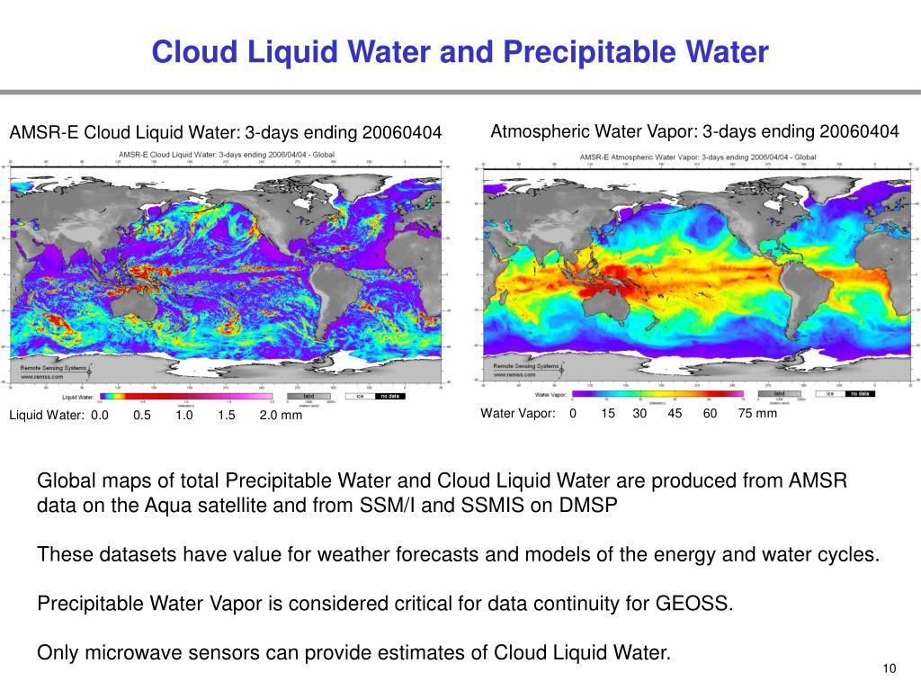 Cloud Liquid Water and Precipitable Water
