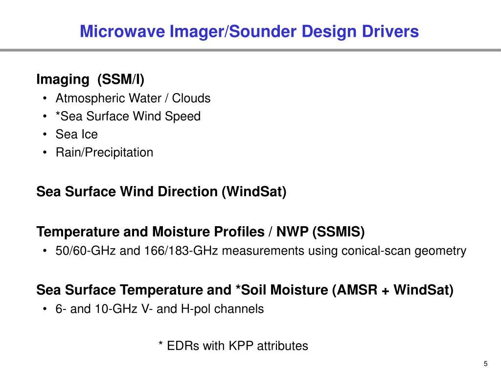 Microwave Imager/Sounder Design Drivers