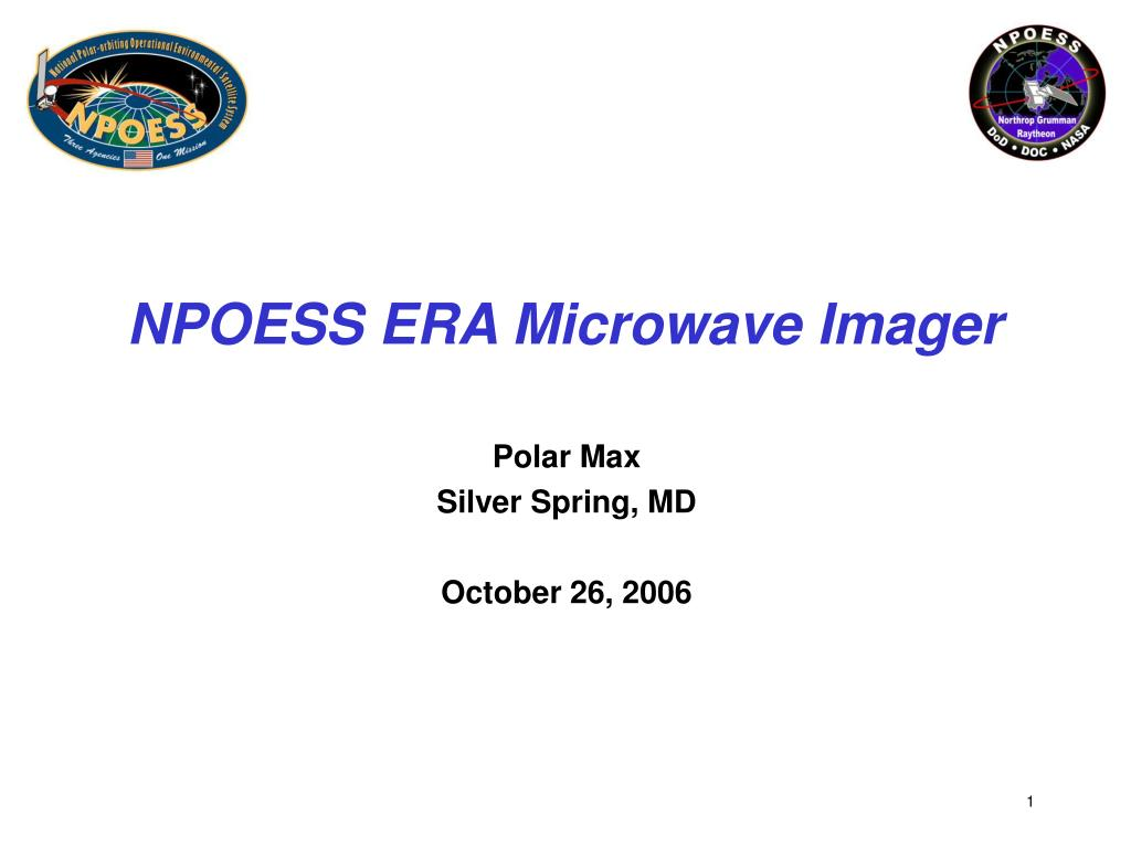 npoess era microwave imager l.