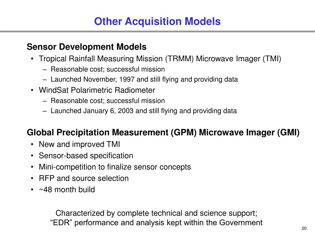 Other Acquisition Models
