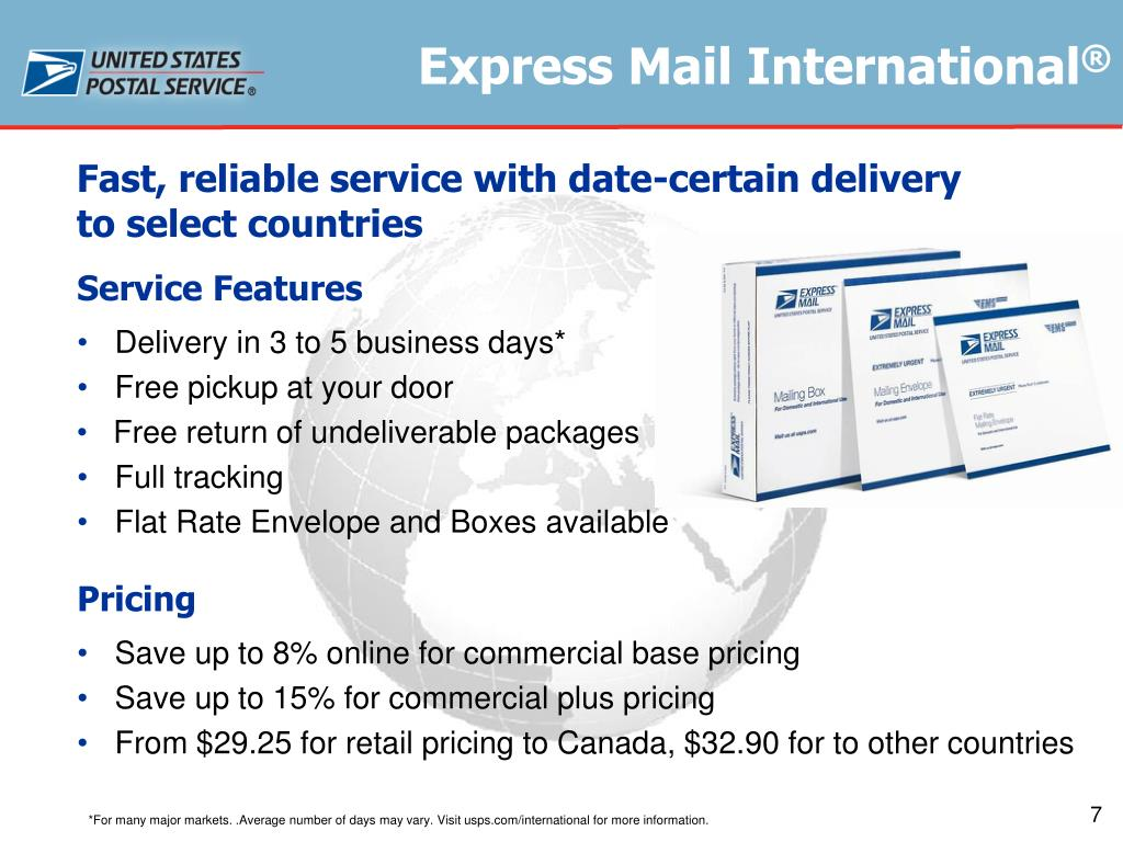 PPT - USPS International Shipping/Mailing Solutions Greater