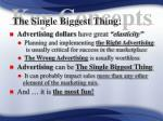 the single biggest thing