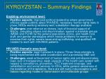 kyrgyzstan summary findings