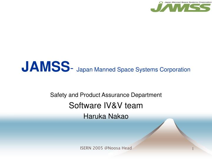 jamss japan manned space systems corporation n.
