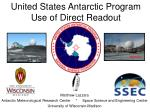 united states antarctic program use of direct readout