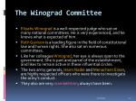 the winograd committee21