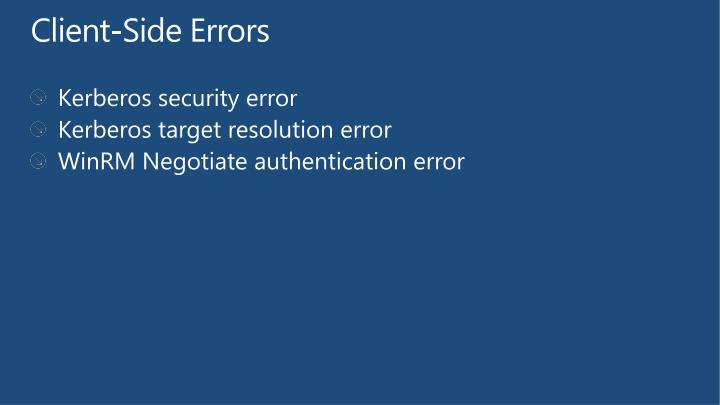 Client-Side Errors