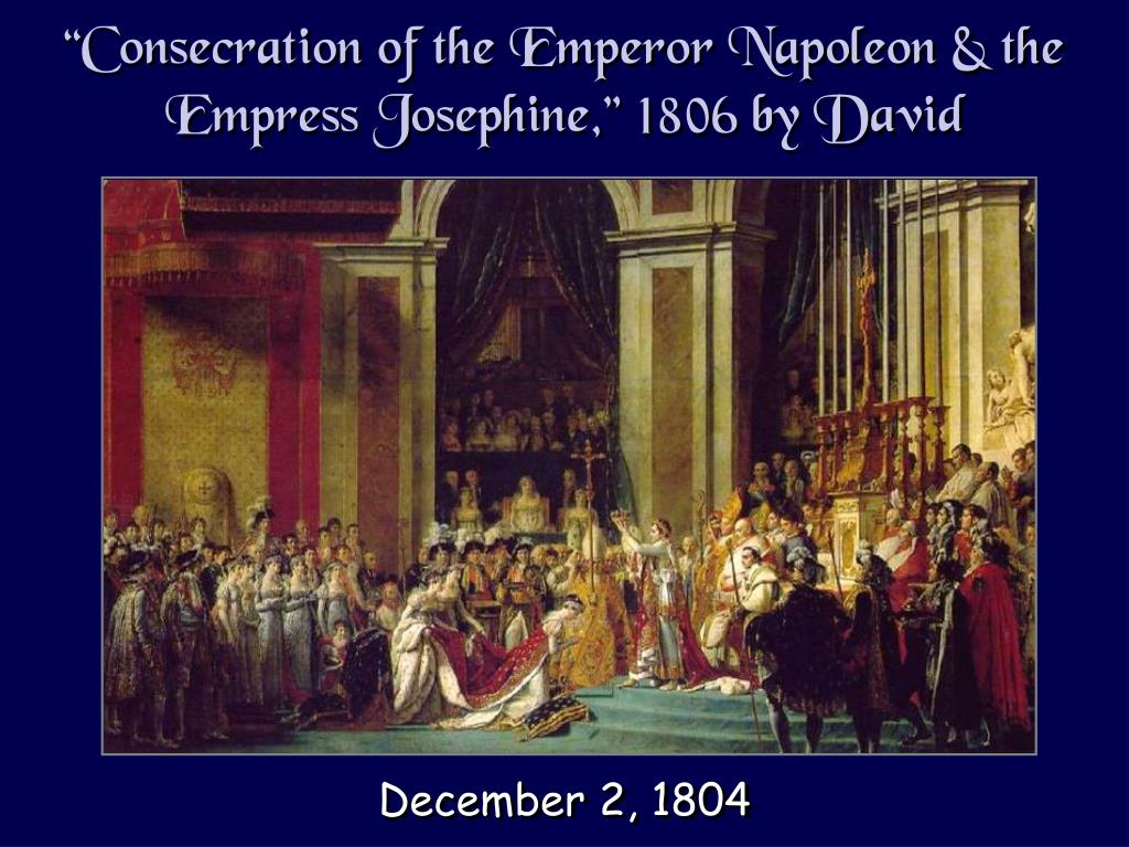 """""""Consecration of the Emperor Napoleon & the Empress Josephine,"""" 1806 by David"""