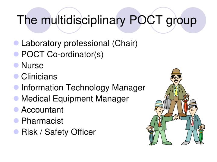 The multidisciplinary POCT group