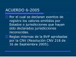 acuerdo 6 2005