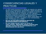 consecuencias legales y pr cticas