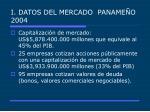 i datos del mercado paname o 2004