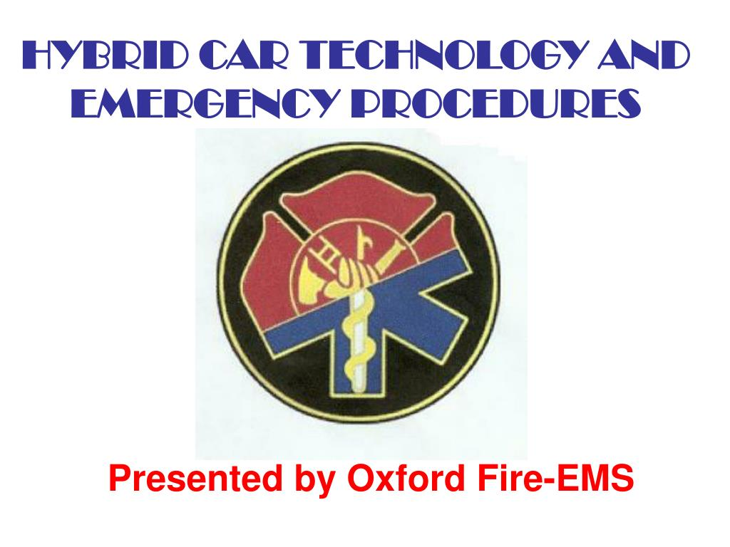 hybrid car technology and emergency procedures l.