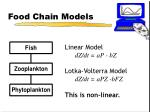 food chain models