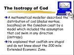the isotropy of cod