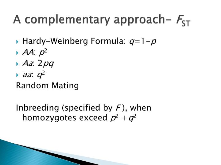 A complementary approach-