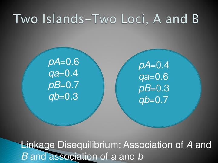 Two Islands-Two Loci, A and B