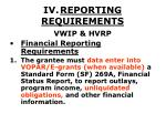iv reporting requirements