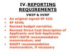 iv reporting requirements22